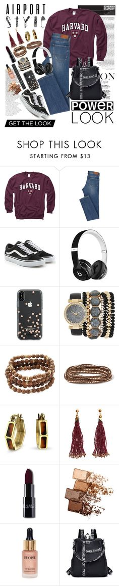 """""""AS"""" by shtrausgaus ❤ liked on Polyvore featuring Gameday Boots, Vans, Beats by Dr. Dre, Kate Spade, Jessica Carlyle, Mary Louise Designs, Chan Luu, Bling Jewelry, Nocturne and Christian Dior"""