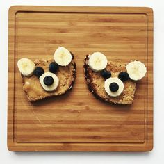 My first #foodart for Cash. Little bear toast.  Gotta start with the easy stuff.  by brittkavanaugh