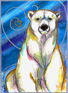 Polar Bear Watercolour by BumbleBeeFairy.deviantart.com on @deviantART