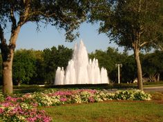 The iconic fountain at Pelican Marsh - North Naples