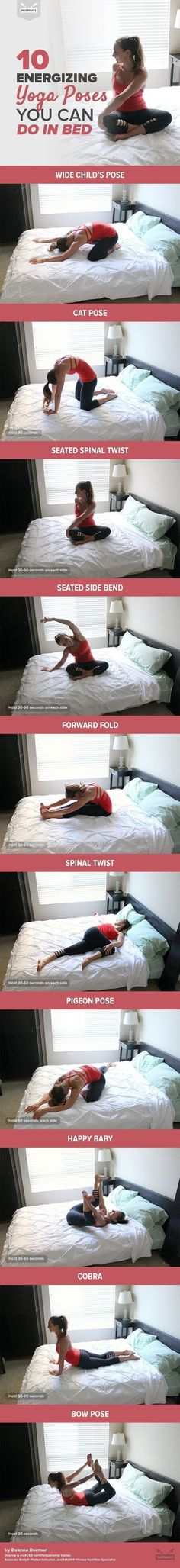 Awesome!! 10 Energizing Yoga Poses You Can Do in Bed...