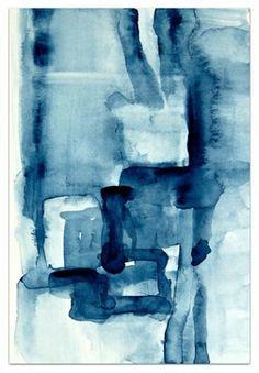 """Blue Blocks"" by Victoria Kloch - modern - originals and limited editions - EBSQ Art"