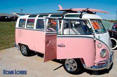 VW bus pink! so cute!