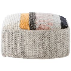 Patricia Urquiola Mangas Original Caramelo Pouf for GAN Patricia Urquiola, House Design Photos, Modern House Design, Modern Ottoman, Textiles, Hand Knitted Sweaters, Colorful Furniture, Mod Furniture, Metal Chairs