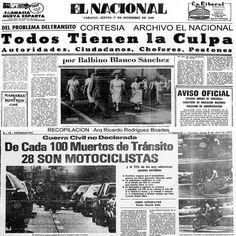 De cada 100 muertos 28 son motorizados. Publicado el 1 de diciembre de 1949.