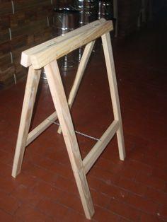 Caballetes de madera m e s a s pinterest carpentry - Caballetes de madera ...