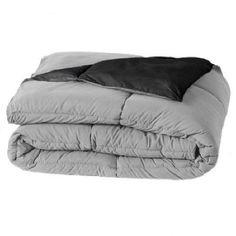Home Classics Reversible Down-Alternative Comforter - Full/Queen Black/Grey NIP #HomeClassics #Modern
