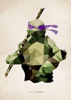 Polygon Heroes - Donatello - Teenage Mutant Ninja Turtles #graphic #awesome by James Reid