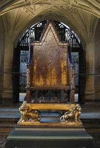 Tudors Coronation Chair at Westminster Abbey