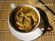 Ázsiai leves 🍴 Soup, Beef, Chicken, Ethnic Recipes, Meat, Soups, Steak, Cubs