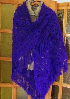 Купить Шаль вязаная Хризантема в интернет магазине на Ярмарке Мастеров