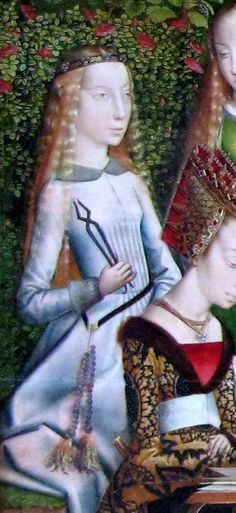 St Agnes from 'Master of the St Lucy legend - Mystical marriage of St Catherine' 1488