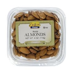 Setton Farms Raw Almond Snack Pack, 4 oz | AmazonFresh (11 BRL) ❤ liked on Polyvore featuring food, fillers and food and drink