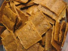 """Tomato, Basil, and Flax Crackers from Food.com: From """"The Everything Raw Food Cookbook."""" My kids call these """"pizza crackers,"""" as they have an almost cheesy flavor. Cooking time included soaking and dehydrating time. **NOTE: You need a dehydrator for this recipe**"""
