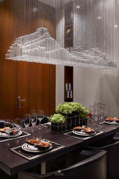 Golden Lighting Design Ideas for Modern Luxury Homes (With images) Interior Lighting, Home Lighting, Chandelier Lighting, Lighting Design, Lighting Ideas, Chandeliers, Interior Architecture, Interior Design, Dining Room Lighting