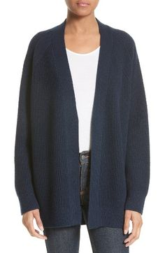 Free shipping and returns on Vince Waffle Stitch Boyfriend Cardigan at Nordstrom.com. Hearty waffle stitching reinforces the sit-back-and-relax style of an oversized cardigan spun from a super cozy wool-and-cashmere blend.