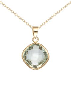 This Prasiolite & Gold Pendant Necklace is perfect! #zulily  (Pinning for stone color reference)