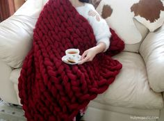 Giant Knitted Blanket Tutorial