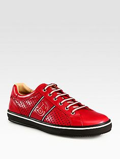 For the fashion forward brother: Bally Perforated Leather Sneaker