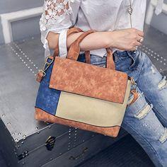 SNUG STAR Tote Handbags Matte Large Bag Stitching New Simple Fashion Handbags Shoulder Crossbody Package (Brown): Amazon.co.uk: Shoes & Bags