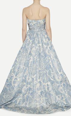 Oscar de la Renta Blue And White Dress. Possible recital dress!