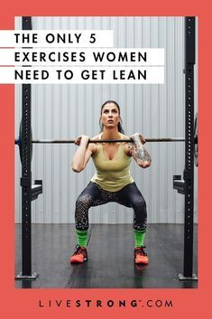 The Only 5 Exercises Women Need to Get Lean - Fitness Plans - Ideas of Fitness Plans - Strength training is a must especially for women. Heres a list of the five exercises that are absolutely essential for women who want to build lean muscle mass. Best Weight Loss Plan, Weight Loss Transformation, Weight Loss Tips, Lose Weight, Weight Lifting Plan, Reduce Weight, Fitness Style, Body Fitness, Health Fitness
