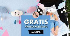 """... diese selbstgemachte Kinderwagenkette ist ein Unikat! Häkel es für dein Baby, als Geschenk für das Baby von Freunden, etc. Du benötigst: -Häkelgarn:ca. je 25 g in rosa und helblau, 30g in Weiß, Reste in Schwarz, Pink, Schwarz und Petrol (100% Baumwolle, LL125m/50g) -Häkelnadel Nr. 2,5 -16 Perlen ø 1 cm -2 Metallclips -Füllwatte -Nähnadel zum Vernähen -Schere Gehäkelte Einzelstücke dürfen bis zu einer Menge von 10 Stück verkauft werden. Hierzu immer auf mich verweisen: """"gehäkelt nach dem"""