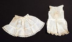 turn of the century doll's half-slip and drawers, dated 1907 ... courtesy the Metropolitian Museum of Art