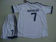 Real Madrid 2012 - 2013 RONALDO Kids Home Jersey Shirt  amp  Shorts For  Kids 11 efb2d0c2672