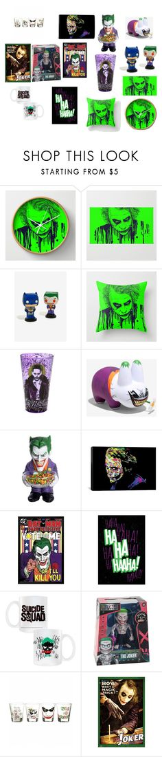 """""""Joker Home Decor"""" by cheshirecatisback ❤ liked on Polyvore featuring interior, interiors, interior design, home, home decor, interior decorating, DC Comics, Buy Seasons, iCanvas and awesomeness"""