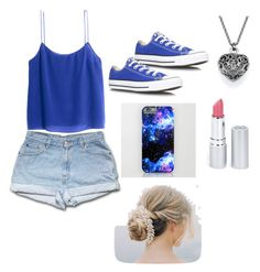 """""""Summer look"""" by riapatelx ❤ liked on Polyvore featuring H&M, Converse and HoneyBee Gardens"""