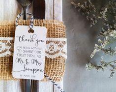 Thank You tag tag personalizzato di grazie di di LaPommeEtLaPipe