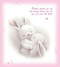 Mum thanx for all the lovely things you do❤️😘 Bunny Drawing, Bunny Art, Drawing S, Bunny Nursery, Nursery Art, Rabbit Pictures, Cute Pictures, Animal Drawings, Cute Drawings