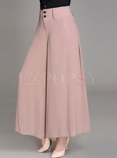 Shop for high quality Stylish Loose Solid Color High-Waist Wide Leg Pants online at cheap prices and discover fashion at Ezpopsy.com