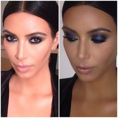 Kim Kardashian Eye Makeup   ... Kim Kardashian's makeup look for John Legend's birthday party last