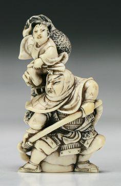 Аукционное ассорти... Античные японские Нэцкэ Ши-ши, китайская резьба по камню и…