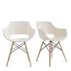 hnn trading chaise en plastique inspiration daw eames blanc cuisine maison f. Black Bedroom Furniture Sets. Home Design Ideas