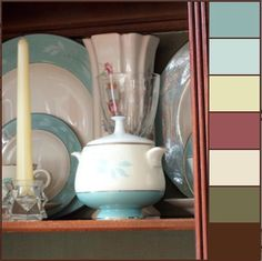 china cabinet winter color palette @adelightsomelife.com