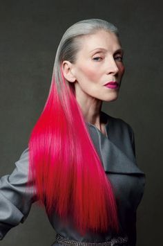 Today we are looking at ladies-who-lunch and the rise in popularity of rainbow hair colour for women over 50.   Because being yourself is in style at every age.