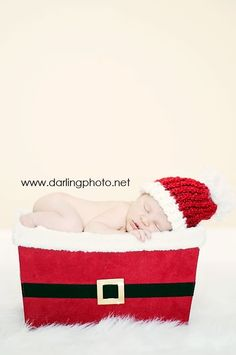 SOFT Santa Newborn Christmas Beanie