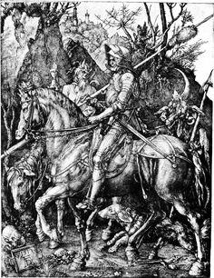 Fine Art Print Death and the Devil 1513 Albrecht Durer Reproduction: Knight