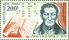 1977 Mali Death Anniversary of Louis Braille Louis
