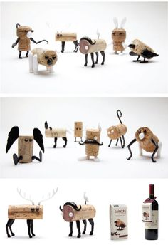 Make a creature out of those wine corks!