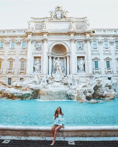 We answer 10 FAQ about the Fontana di Trevi that reveal the secrets of the most popular Roman Fountain worldwide. Check out facts, pictures and videos. Places To Travel, Travel Destinations, Places To Visit, Italy Vacation, Italy Travel, Italy Trip, Rome Travel, Travel Pictures, Travel Photos