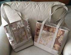 Making It With Help: Upholstery Samples Tote Bags