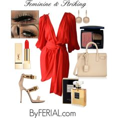 Feminine & Striking by byferial on Polyvore featuring polyvore, fashion, style, Yves Saint Laurent, Giuseppe Zanotti, Astley Clarke, Christian Dior, PUR and Chanel