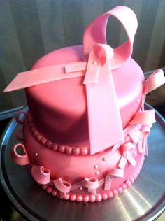 Breast Cancer Survivor Cake for you...  Yes, you can have sweets my sweet!