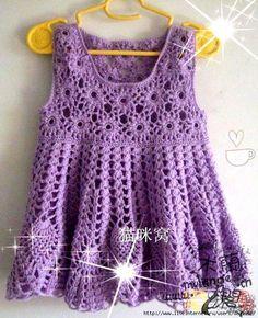 """Magnifique robe violette , au bustier fleuri , ornée de motifs ananas pour la jupe , trouvée sur le site de """" Liveinternet.ru/users/3900865 """" avec ses grilles gratuites ."""