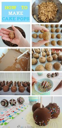 Nutella Cake Pops step by step The most beautiful, most delicious, newest recipes on this page. Fiesta Cake, Nutella Cake, Cake Pops How To Make, Salty Cake, Savoury Cake, Mini Cakes, Clean Eating Snacks, Dessert Recipes, Yummy Food