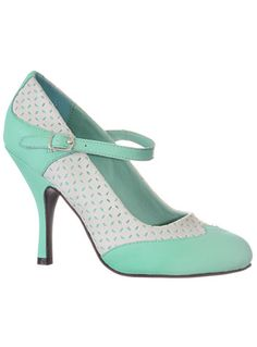 Freshly Minted Maryjane Heels at PLASTICLAND - Why do some shoes not come in half sizes?!